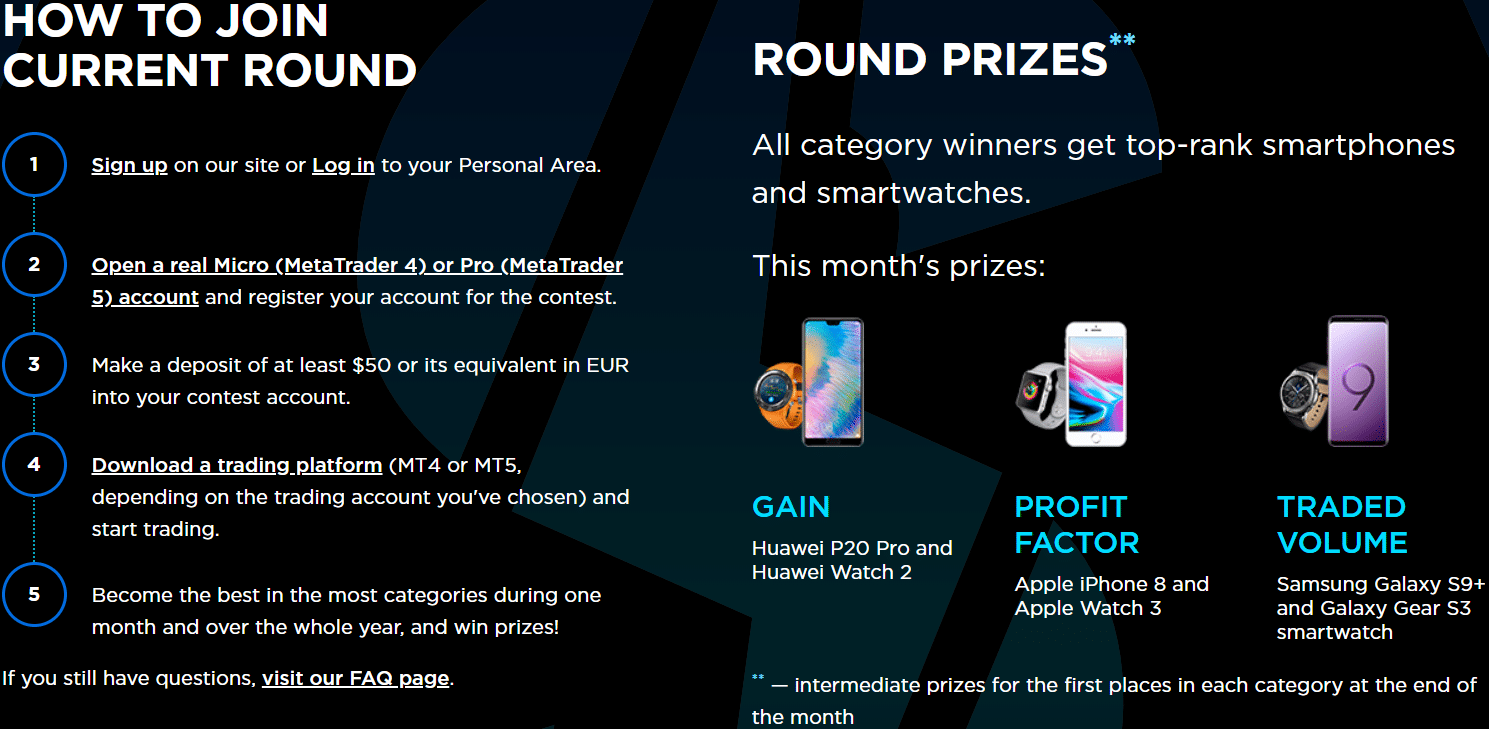 OctaFX supercharged prizes
