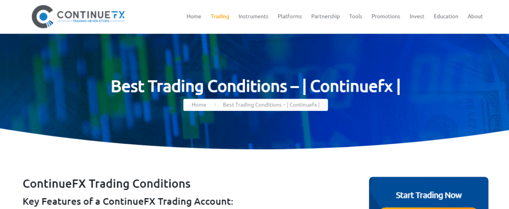 Trading at ContinueFX