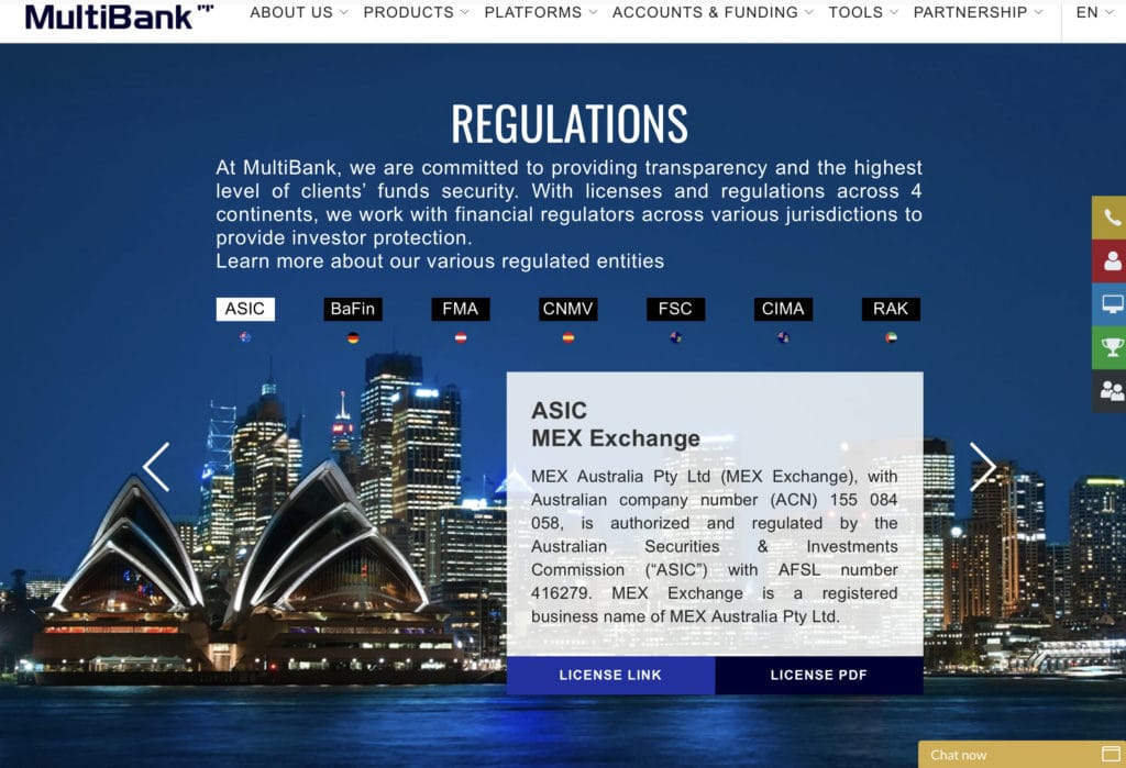 Multibankfx regulations review