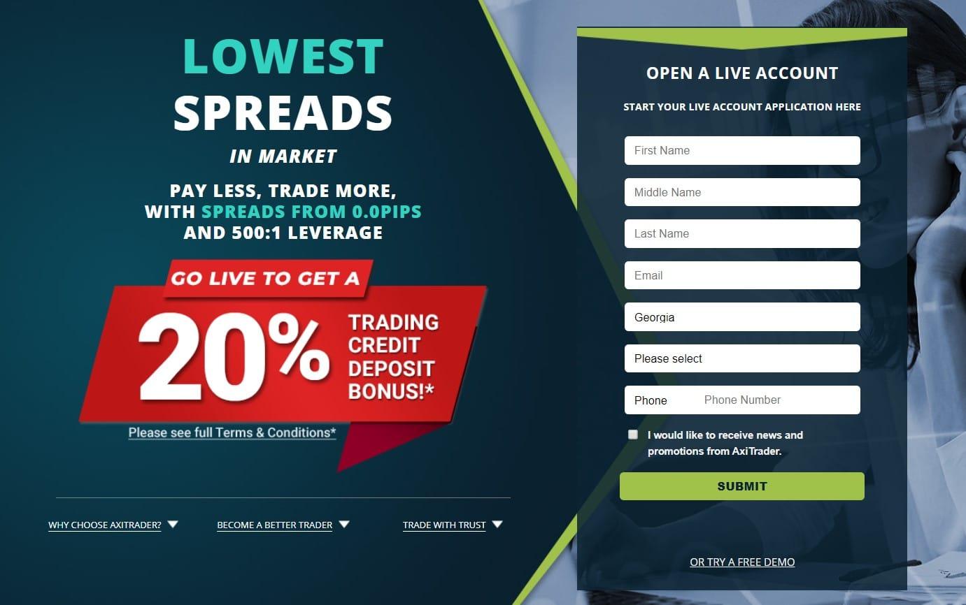 AxiTrader deposit bonus review