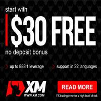 Xm Free 30 USD No Deposit Bonus